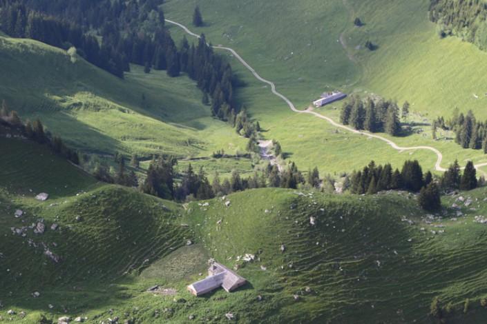 alpages de Gruyère dans le canton de Fribourg