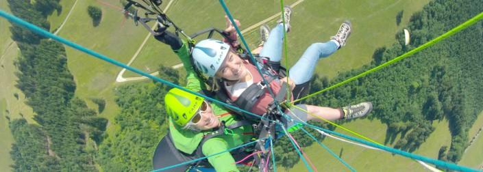 saut parapente en Gruyère